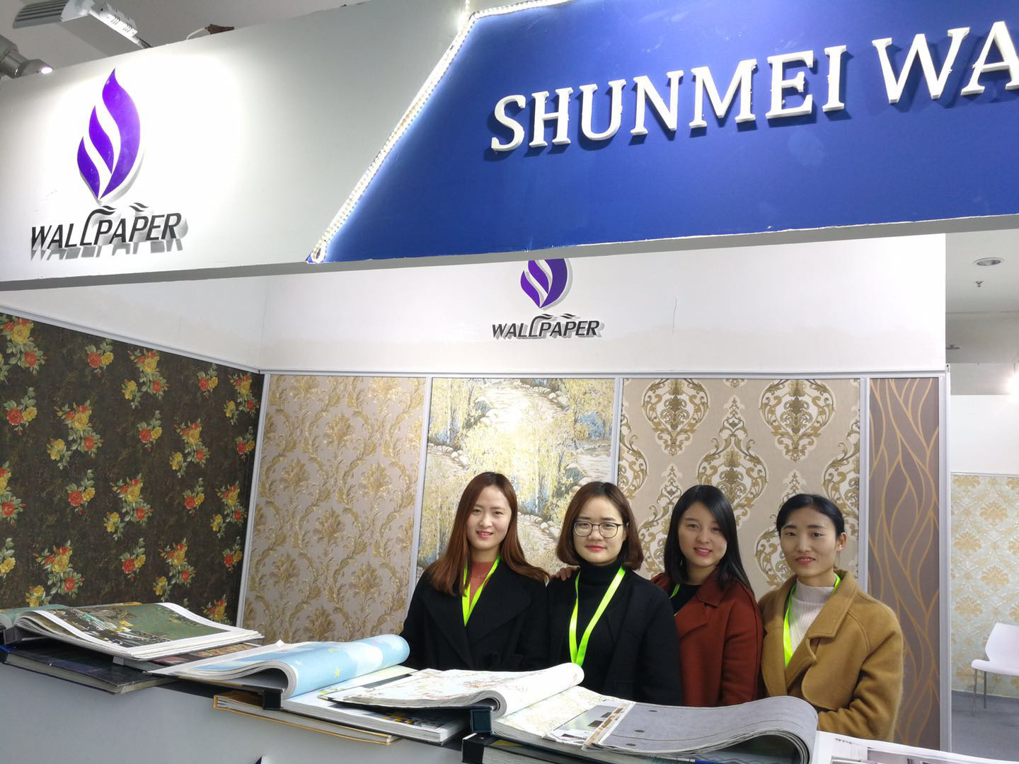 Congradulation Shunmei wallpaper have a great success business in Beijing fair
